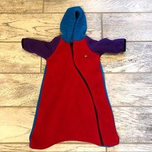 Baby fleece one piece zip up bodysuit